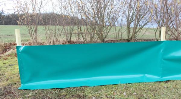 Reptilienschutzzaun 80 cm für Holzpfosten & Tackernägel