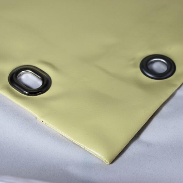 PVC matt mit Saum und Ösen alle 50cm, beige