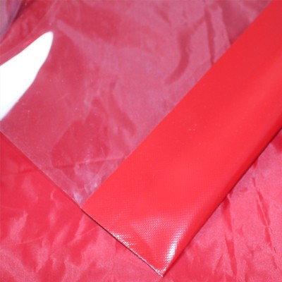 PVC transparent mit farbigem Saum ca. 1060g/m²