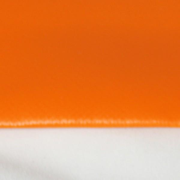 PVC matt mit Saum und ohne Ösen, orange dunkel