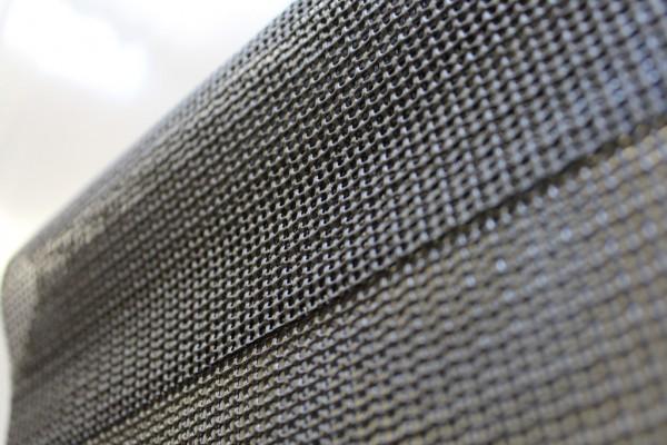PVC Netz mit Saum und ohne Ösen, schwarz