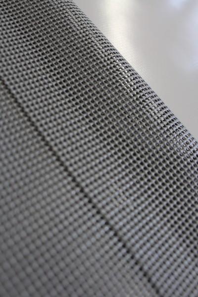 PVC Netz mit Saum und ohne Ösen, grau