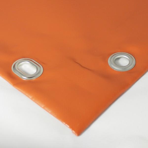 PVC matt mit Saum und Ösen alle 50cm, ton