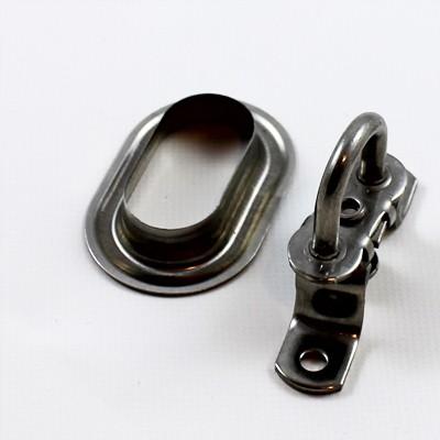 Drehverschluss für Ovalösen in Messing 38 x 13 mm