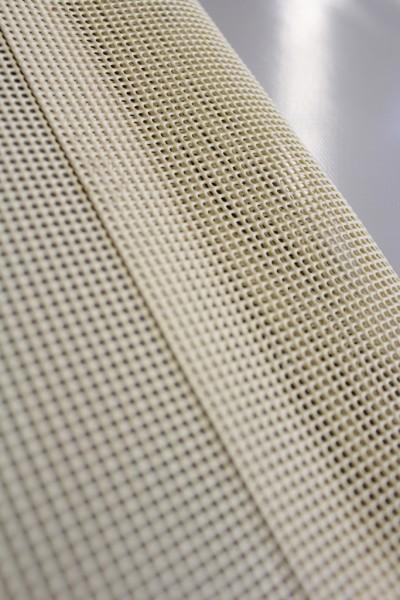 PVC Netz mit Saum und ohne Ösen, beige