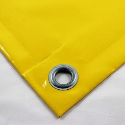 mit Saum und Ösen alle 50cm, gelb
