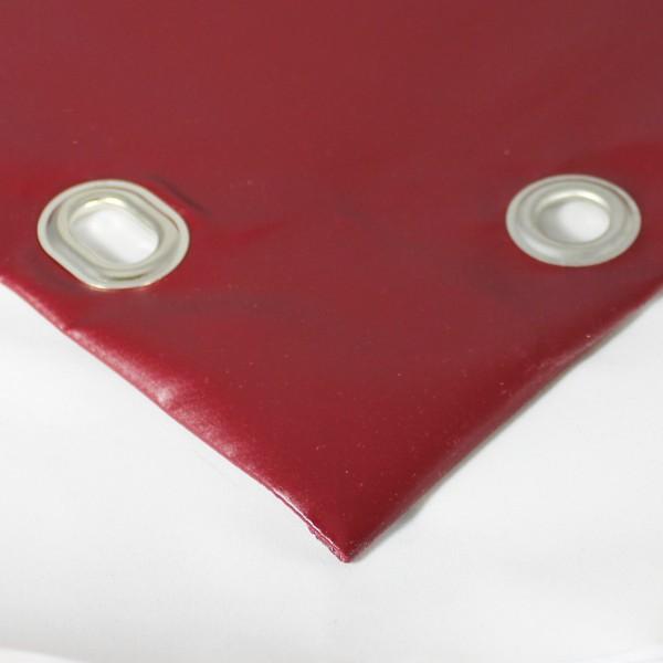 PVC matt mit Saum und Ösen alle 100cm, purpurrot