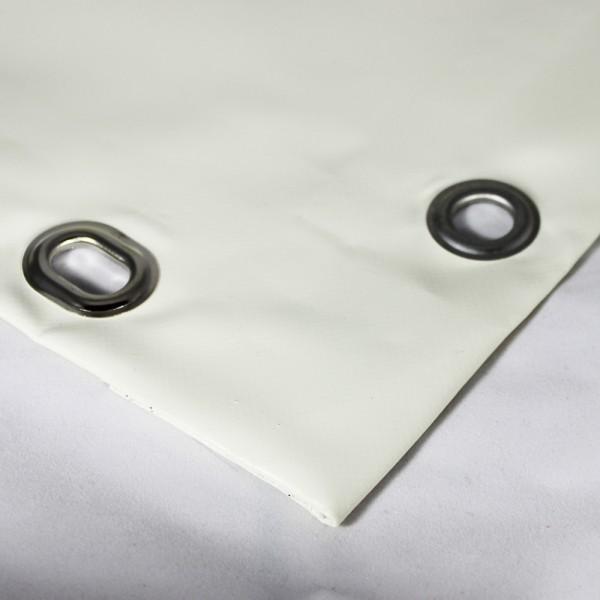 PVC matt mit Saum und Ovalösen alle 50cm, cremeweiß