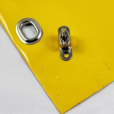 mit Saum und Ovalösen alle 50cm, gelb, inkl. Drehwirbel