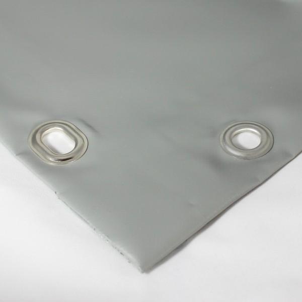 PVC matt mit Saum und Ösen alle 50cm, dunkelgrau