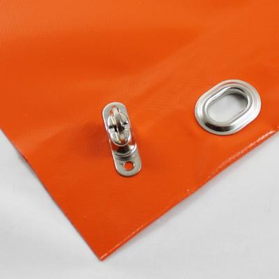 mit Saum und Ovalösen alle 50cm, orange, inkl. Drehwirbel